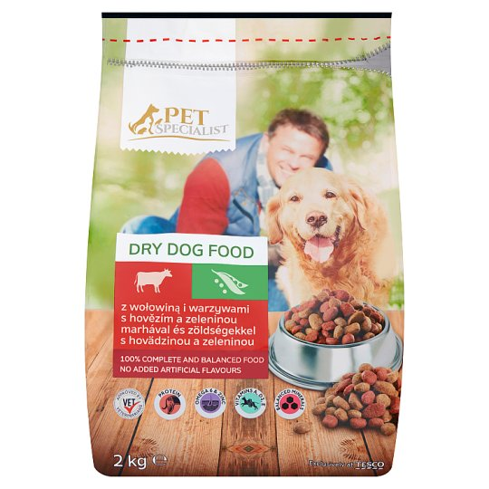 Tesco Pet Specialist Dry Dog Food with Beef and Vegetables 2 kg