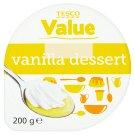 Tesco Value Custard Dessert with Vanilla Flavor and Whipped Cream 200 g