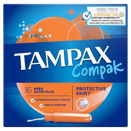Tampax Compak Super Plus Tampóny S Aplikátorom 16 ks