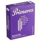 Primeros Passion Condoms with Stimulating Dents, Protuberances and Cocoa Fragrance, 3 pcs