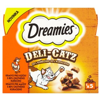 Dreamies Deli-Catz krmivo pre mačky s 80% chutného kuracieho 5 x 5 g