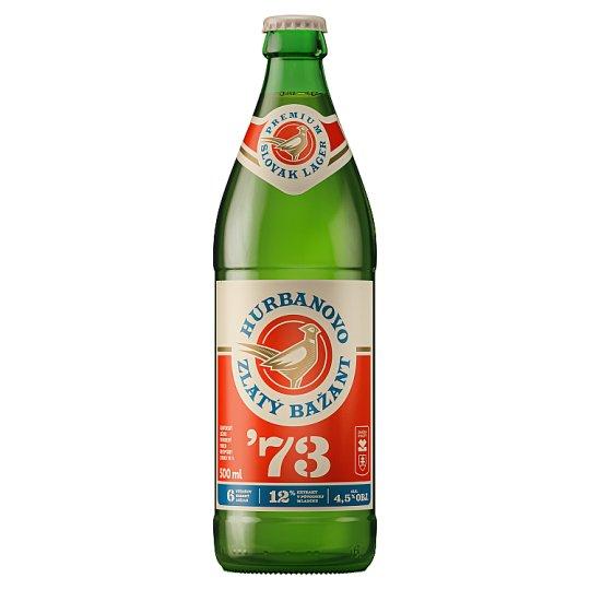 b0d47b399dffe Zlatý Bažant '73 pivo svetlý ležiak fľaša 0,5 l - Tesco Potraviny