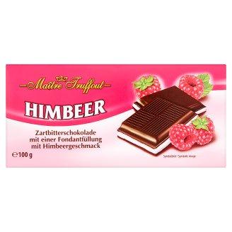 Maître Truffout Horká čokoláda s fondánovou náplňou s malinovou príchuťou 100 g