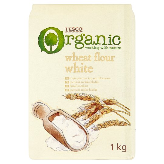 Tesco Organic Wheat Flour White 1 kg