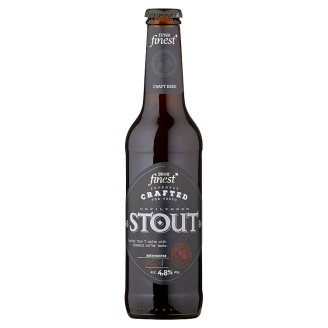Tesco Finest Stout Special Dark Beer Unfiltered with the Addition of Coffee 330 ml