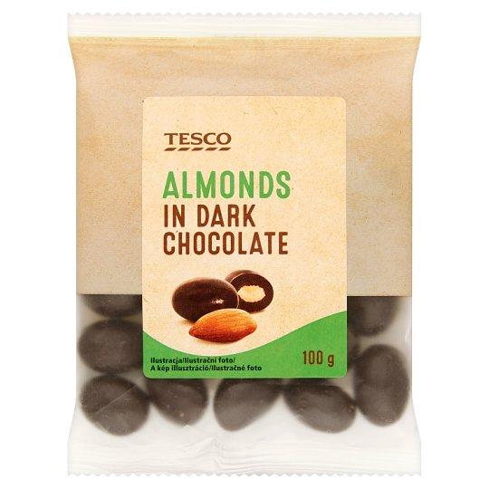 Tesco Mandle jadrá pražené v horkej čokoláde 100 g