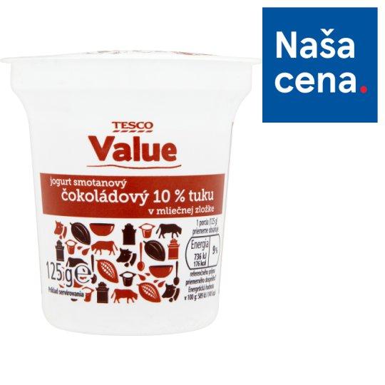Tesco Value Smotanový jogurt čokoládový 125 g