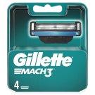 Gillette Mach3 Náhradné Holiace Hlavice, 4 Ks