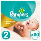 Pampers Premium Care Size 2 (Mini) 3-6kg, 80 nappies