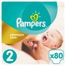 Pampers Premium Care Detské Jednorazové Plienky, Veľkosť 2 (Mini) 3 – 6 kg, 80 Kusov