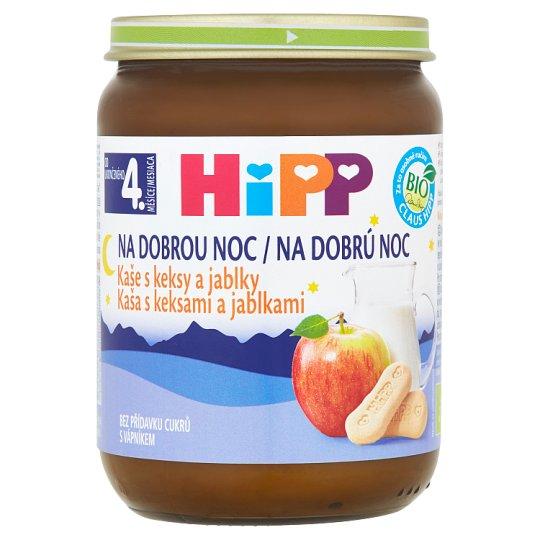 HiPP Bio kaša s keksami a jablkami na dobrú noc 190 g