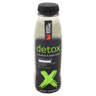 Body&Future Detox hruška, špenát, bazalkové semienka 330 ml