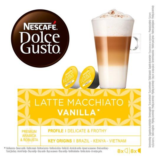 NESCAFÉ Dolce Gusto Latte Macchiato Vanilla - Coffee in Capsules - 16 Capsules Packed