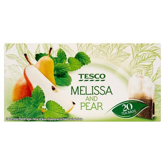 Tesco Aromatizovaný ovocný čaj s medovkou lekárskou a hruškovou príchuťou 20 x 1,5 g