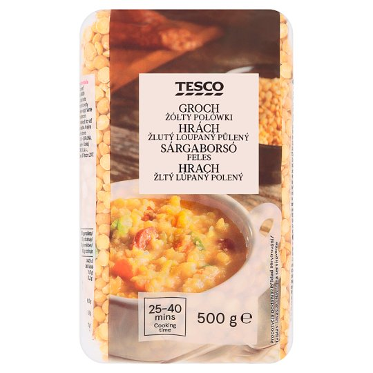 Tesco Yellow Peas Peeled Halved 500 g