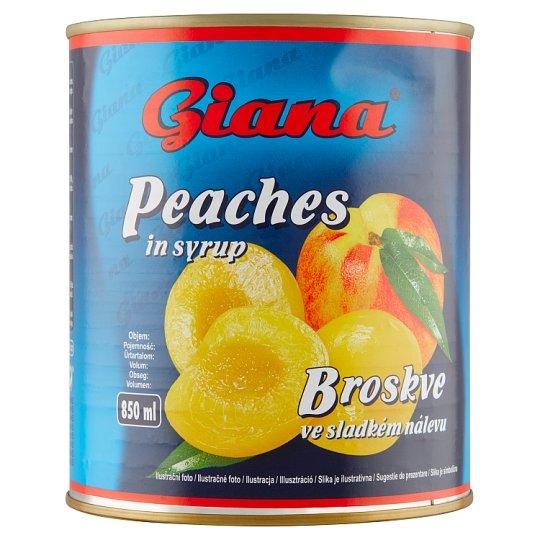 Giana Broskyne v sladkom náleve 820 g