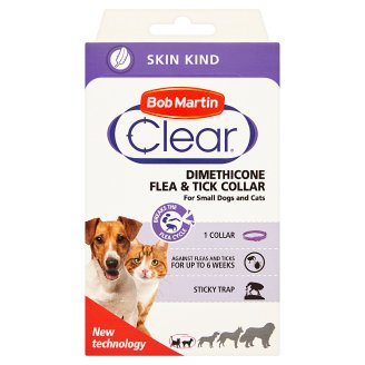 Bob Martin Clear Dimethicone Collar for Cats and Small Dogs 1 pcs