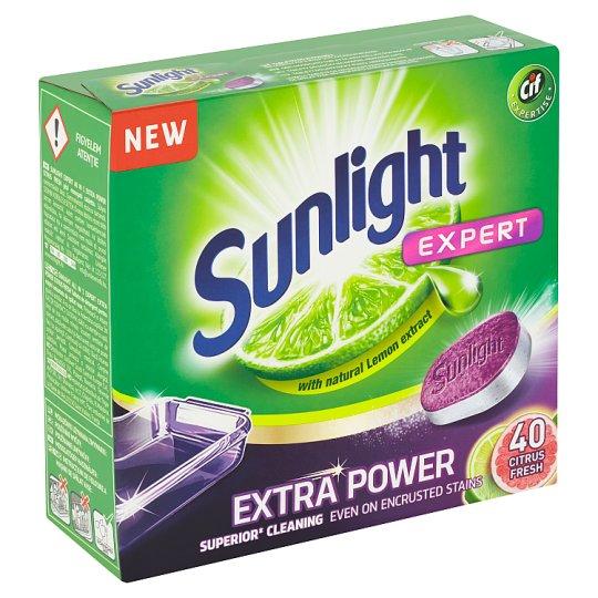 Sunlight All in 1 Extra Power Citrus Fresh tablety do umývačky riadu 40 ks 700 g