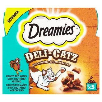 Dreamies Deli-Catz Feed for Cats with 80% Tasty Turkey 5 x 5 g