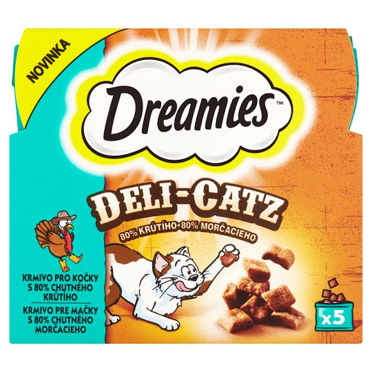Dreamies Deli-Catz Feed for Cats with 80% Tasty Turkey 5 x 5 g