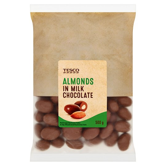 Tesco Almonds in Milk Chocolate 500 g