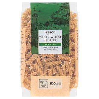 Tesco Fusilli bezvaječné celozrnné semolinové sušené cestoviny 500 g