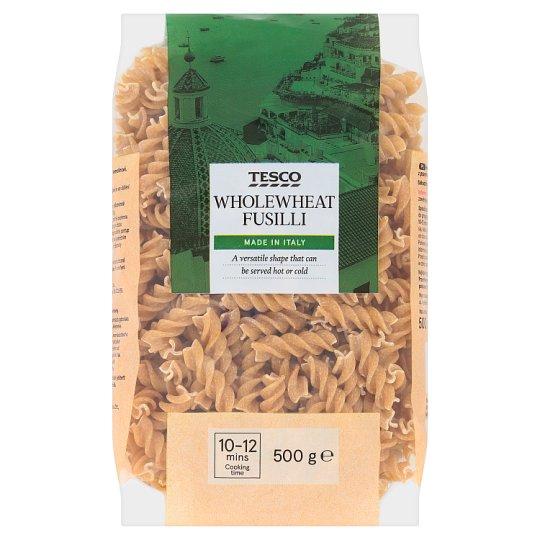 Tesco Wholewheat Fusilli Dried Egg-Free Semolina Pasta 500 g