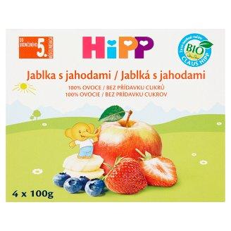 HiPP Jablká s jahodami 4 x 100 g