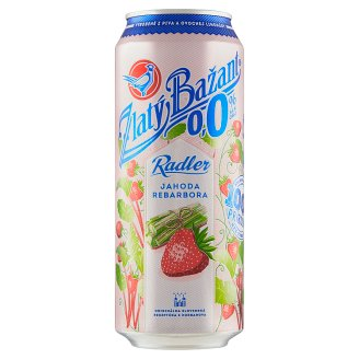 Zlatý Bažant Radler 0.0% Strawberry-Rhubarb 500 ml