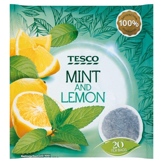 Tesco Mäta s citrónovou príchuťou aromatizovaný bylinný čaj porciovaný 20 x 2 g