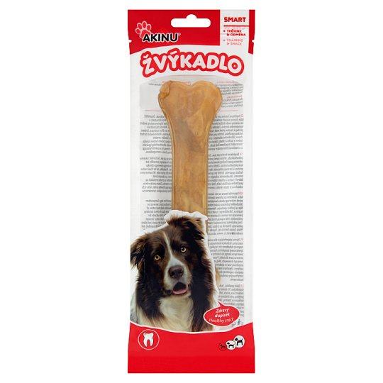 Akinu Chewing Bone from Natural Leather 16 cm 1 pc