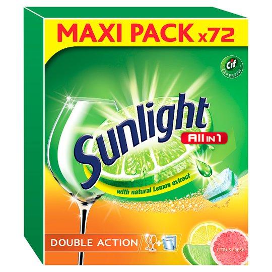 Sunlight All in 1 Citrus Tablety do umývačky riadu 72 ks