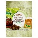 Tesco Zelený čaj s citrónovou trávou, čajom maté a limetkovou príchuťou 15 x 1,5 g