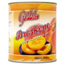 Gold Plus Peeled Peaches Halves in Slightly Sweet Syrup 820 g