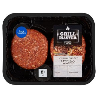 Tesco Beef Burger with Jalapeño Pepper 0.440 kg