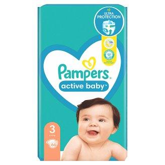 Pampers Active Baby Veľ. 3, 66 Plienok, 6-10 kg