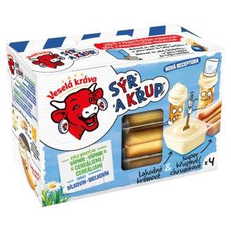 Veselá Kráva Sýr a Křup Lahodný syr & chrumkavé tyčinky 4 x 35 g