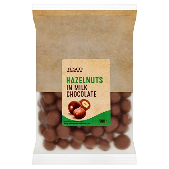Tesco Hazelnuts in Milk Chocolate 500 g