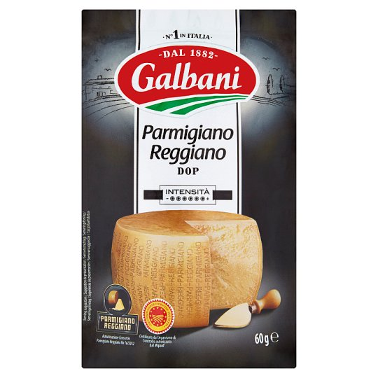 Galbani Parmigiano Reggiano Extra Hard Ripening Semi-Fat Cheese Grated 60 g