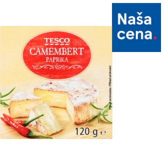 Tesco Camembert paprika 120 g