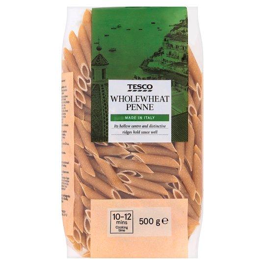 Tesco Wholewheat Penne Dried Egg-Free Semolina Pasta 500 g
