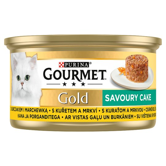 GOURMET Gold Savoury Cake with Chicken and Carrots 85 g
