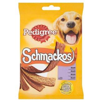 Pedigree Schmackos Multi 4 lahodné príchute doplnkové krmivo pre dospelých psov 20 ks 172 g