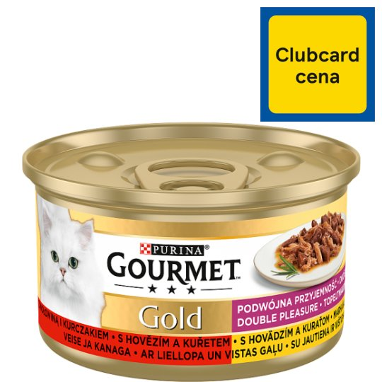 GOURMET Gold Double Pleasure with Beef and Chicken 85 g