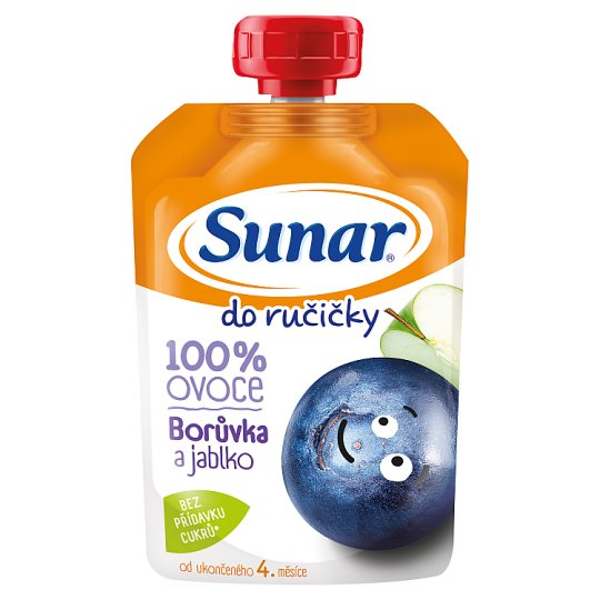Sunárek Do Ručičky Apple Blueberry 100 % Fruit 100 g