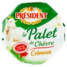 Président Palet de Chévre Soft-Ripened Goat Cheese Full Fat 120 g