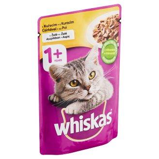 Whiskas Kompletné krmivo pre dospelé mačky s kuracím mäsom v žélé 100 g