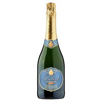 Hubert Chardonnay brut akostné šumivé víno biele 0,75 l
