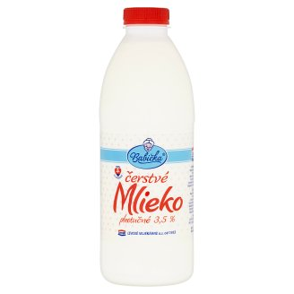 Babička Fresh Whole Milk 3.5 % 1 L
