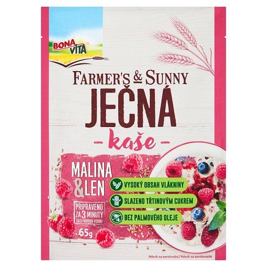 Bona Vita Farmer's & Sunny Jačmenná kaša ľan-malina 65 g